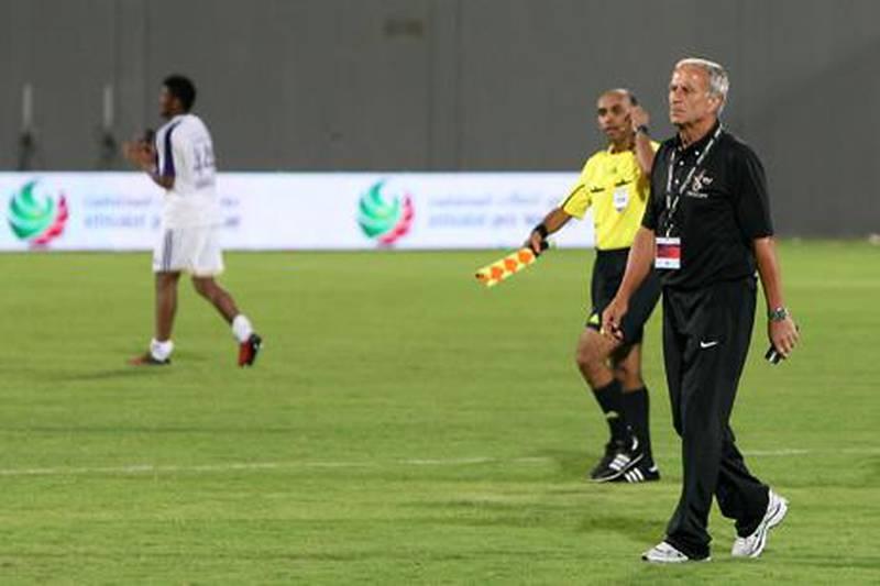 Abu Dhabi, United Arab Emirates, Oct 21 2011, Al Whada v Al Ain-    Al Head Coach  Josef Hickersberger on the after the match with Al Ain at Al Nahyan Stadium in Abu Dhabi. Al Whada and Al Ain battled to a 2-2 tie .  Mike Young / The NationalHead Coach  Josef Hickersberger