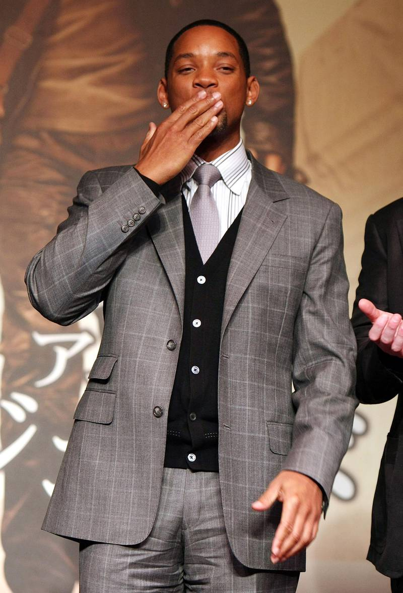 """TOKYO - DECEMBER 04:  Will Smith attends a press conference of """"I Am Legend"""" at Grand Hyatt Hotel on December 4, 2007 in Tokyo, Japan. The film will be launched in Japan and US on December 14.  (Photo by Junko Kimura/Getty Images)"""