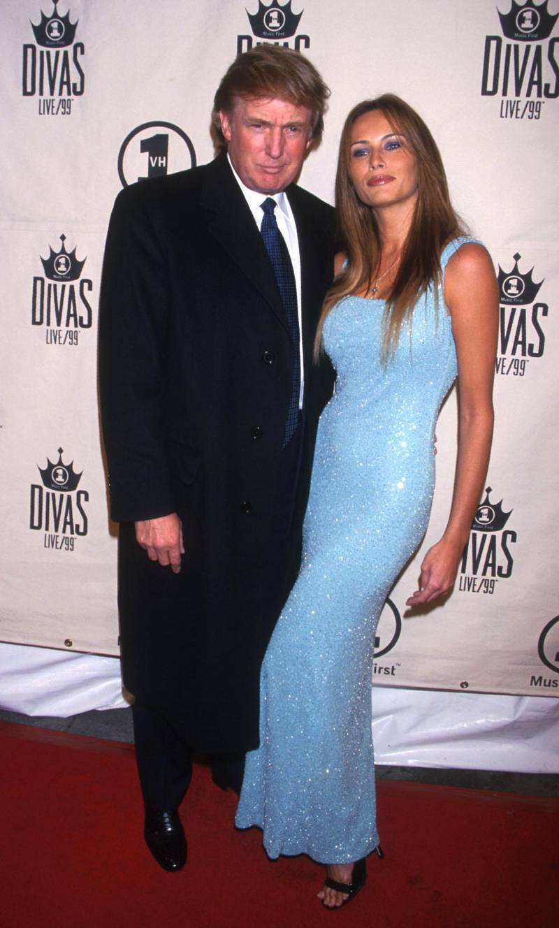 FILE PHOTO: Donald Trump and Melanie Knaus arrive for VH1's Divas Live concert at the Beacon Theater in New York City April 13, 1999. (Photo by Diane Freed)