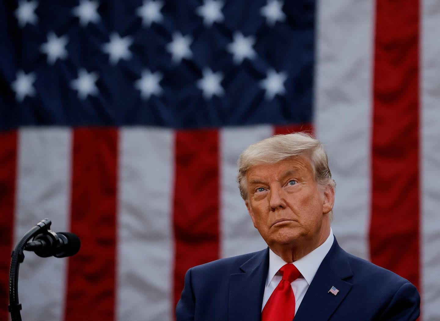 FILE PHOTO: U.S. President Donald Trump delivers an address from the Rose Garden at the White House in Washington, U.S., November 13, 2020. REUTERS/Carlos Barria//File Photo