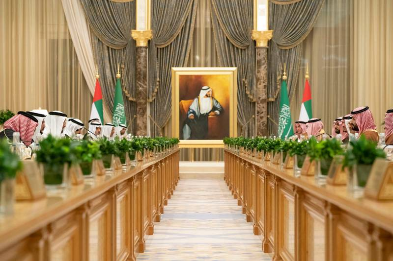 Sheikh Mohamed bin Zayed, Crown Prince of Abu Dhabi and Deputy Supreme Commander of the UAE Armed Forces and Saudi Arabia Crown Prince Mohammed bin Salman witnessed the exchange of four MoUs and reviewed 7 strategic initiatives during a Saudi-Emirati Coordination Council meeting. From MBZ's twitter
