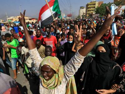 Sudanese protest military takeover - in pictures