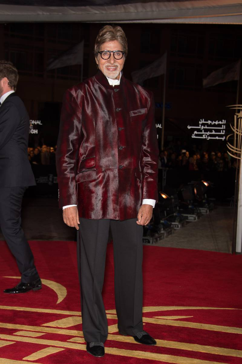 MARRAKECH, MOROCCO - DECEMBER 01:  Indian  actor Amitabh Bachchan  arrives for the tribute to Hindi cinema at the 12th Marrakech International Film Festival on November 30,Marrakech International 12th Film Festival on December 1, 2012 in Marrakech, Morocco.  (Photo by Dominique Charriau/Getty Images)