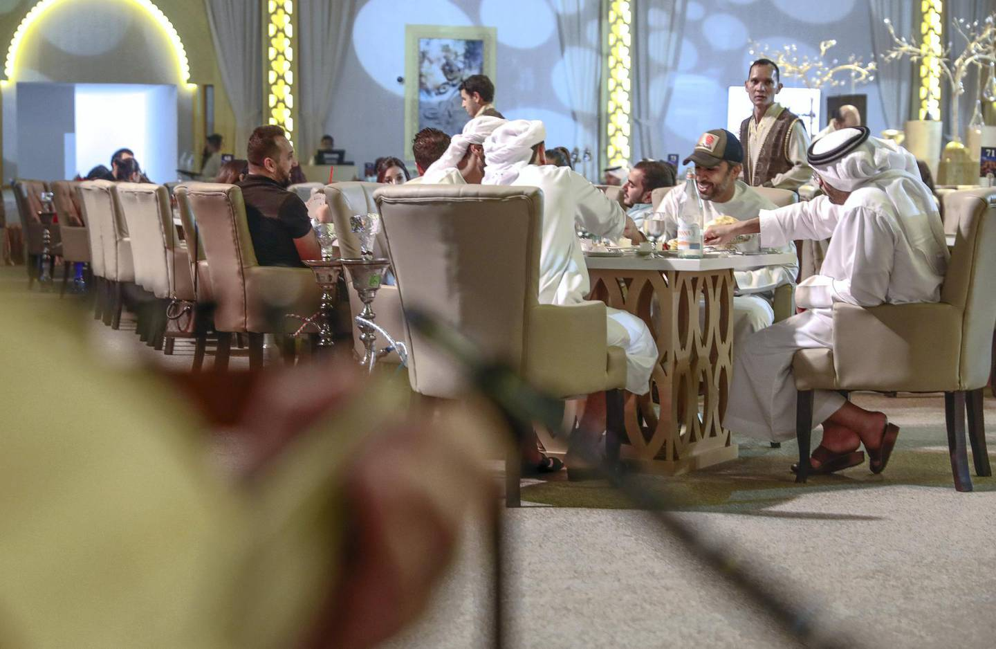 Abu Dhabi, United Arab Emirates, May 22, 2019.    Suhur at the Emirates Palace Hotel with Soux Chef, Yahia Al Mustafa and his Ramadan tent team.Victor Besa/The NationalSection:   NAReporter:  John Dennehy
