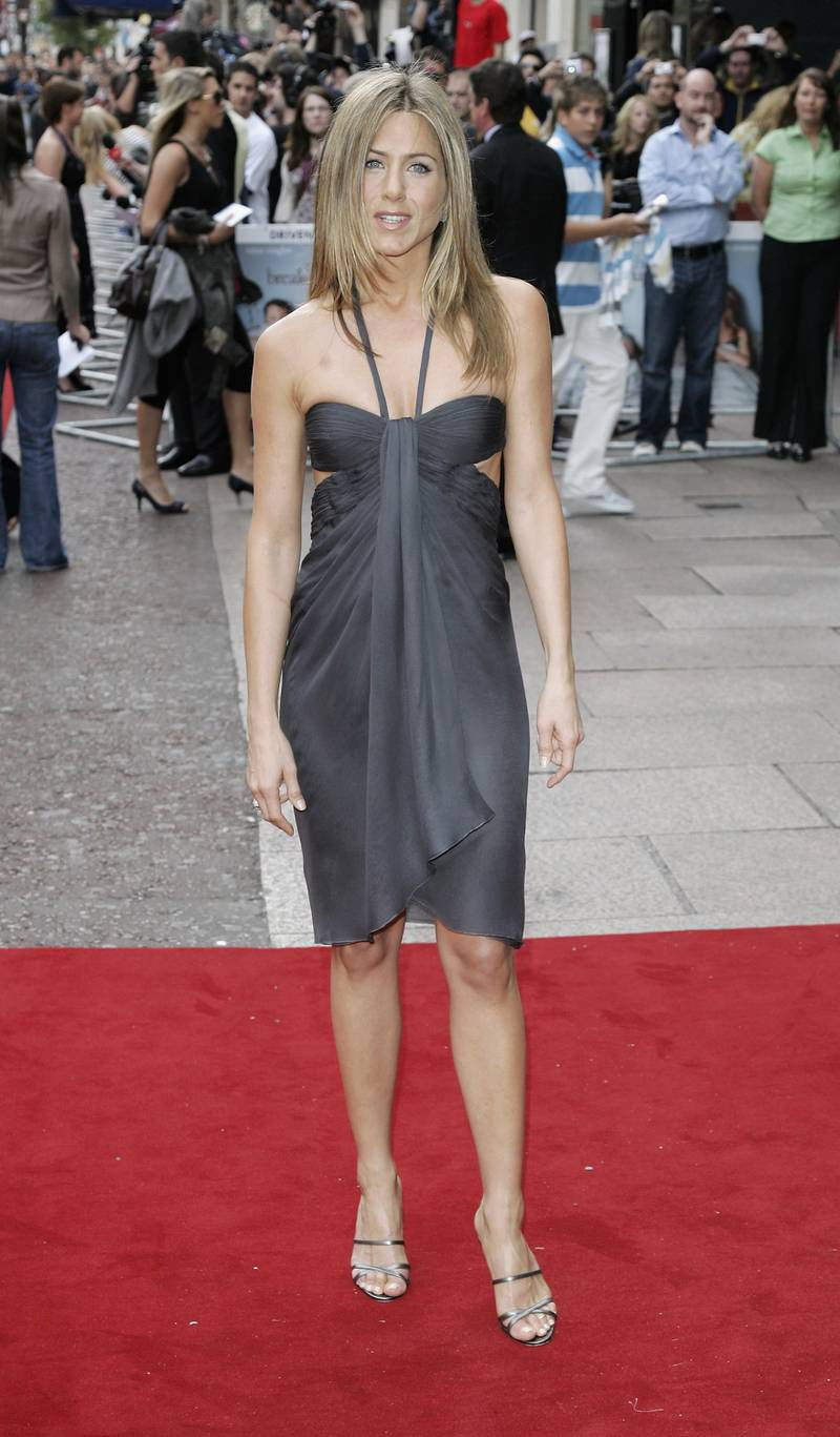 LONDON - JUNE 14:  Actress Jennifer Aniston arrives at the UK premiere of 'The Break-up' at the Vue West End, on June 14 in London, England.  (Photo by Gareth Cattermole/Getty Images)