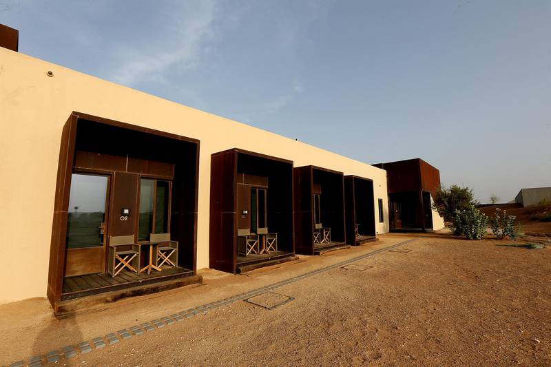 Sharjah, August, 18, 2019: General view of the  rooms at the Al Faya Lodge in Sharjah. Satish Kumar/ For the National / Story by Rupert Hawksley