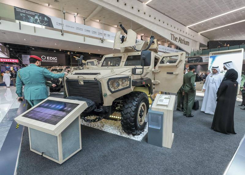 Abu Dhabi, U.A.E., February 18, 2019. INTERNATIONAL DEFENCE EXHIBITION AND CONFERENCE  2019 (IDEX) Day 2--  The Ajban 44 7A.Victor Besa/The National