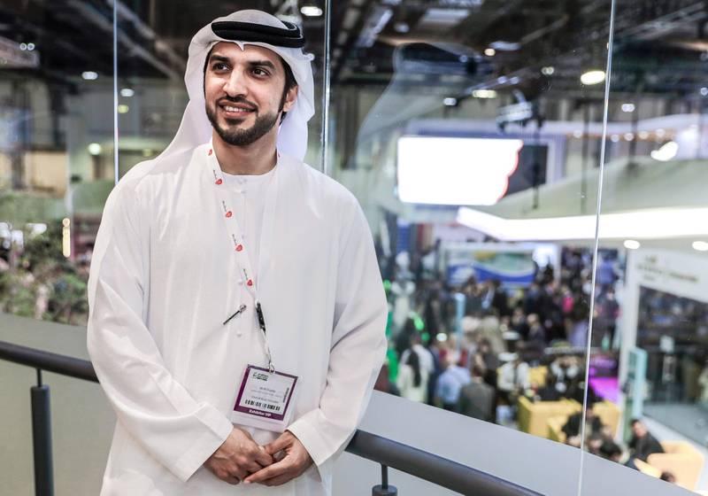 Abu Dhabi, April 29, 2019.  Arabian Travel Market. -- Ali Al Shaiba, Director of Marketing and Communications, Department of Culture and Tourism, Abu Dhabi.Victor Besa/The NationalSection:  SPReporter:  John McAuley