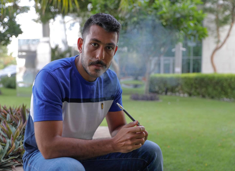 Abu Dhabi, United Arab Emirates, June 26, 2019.   Medwakh smoker, Rami Sayouzi .Victor Besa/The NationalSection:  NAReporter:  Haneen Dajani