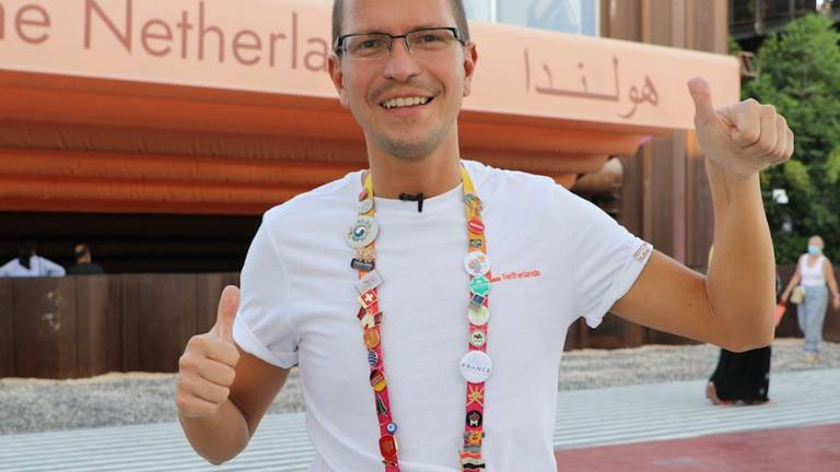 An image that illustrates this article Meet the Expo super fan collecting pavilion pin badges in Dubai