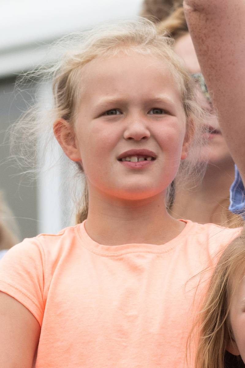 Savannah Phillips,  Mia Tindall and Isla Phillips attend the Festival of British Eventing at Gatcombe Park
