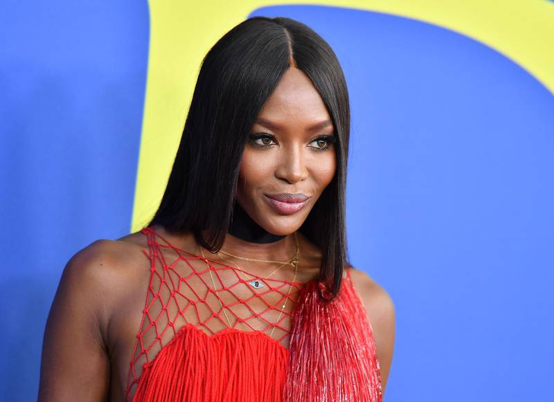 British supermodel Naomi Campbell arrives at the 2018 CFDA Fashion awards June 4, 2018 at The Brooklyn Museum in New York.  / AFP / ANGELA WEISS