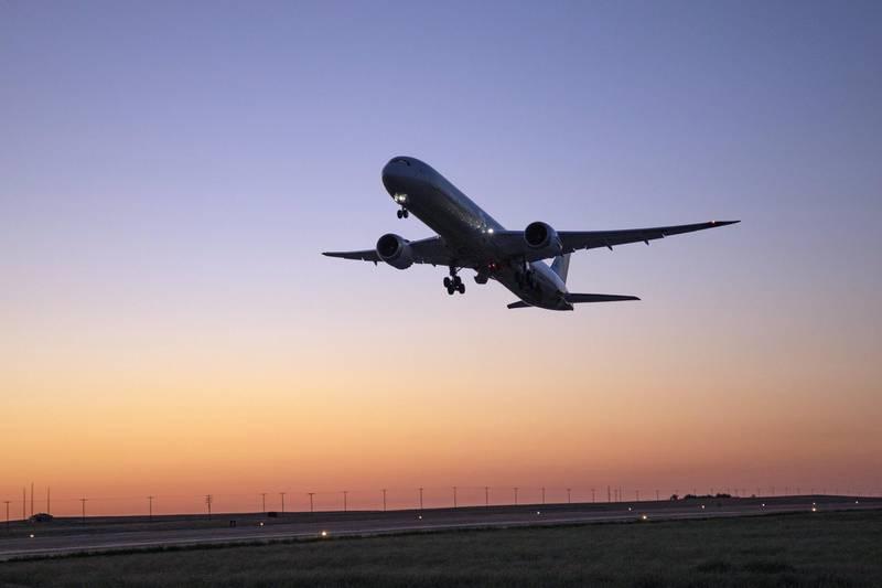 Boeing; Boeing Test and Evaluation; Flight Test; ecoDemonstrator, ecoD, 787-10, ZC069, Etihad Airways, technology demonstrator, product development, NASA, SAFRAN,  MARCO, Glasgow Montana