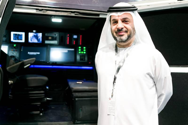 ABU DHABI, UNITED ARAB EMIRATES, 21 FEB 2017.  Faisal Al Bannai, CEO, Dark Matter, at IDEX 2017.  Photo: Reem Mohammed / The National (Reporter: Sananda Sahoo / Section: NA) ID 18651 *** Local Caption ***  RM_20170221_IDEX_004.JPG