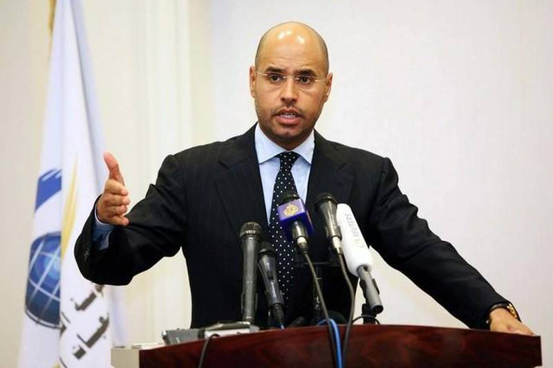 Saif Al Islam Qaddafi, pictured in March, 2010. The son of Libyan dictator Muammar Qaddafi, once thought to be heir-apparent, has been released from prison under an amnesty agreement made with the militia in western Libya.