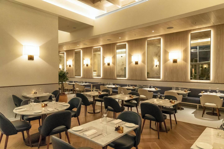 ABU DHABI, UNITED ARAB EMIRATES. 31 OCTOBER 2018. The newly opened Edition Hotel in Al Bateen. Alba Terrace Restaurant. (Photo: Antonie Robertson/The National) Journalist: Melinda Healy. Section: Weekend.