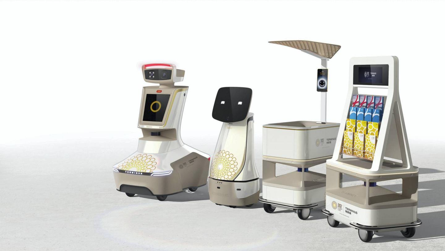 More than 150 robots will meet and greet visitors at the world expo next year. The friendly machines include Opti, one of the official mascots of Expo 2020. Courtesy: Expo 2020 Dubai