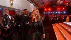 Rita Wilson goes viral with rap in all-star singalong during Emmys opening