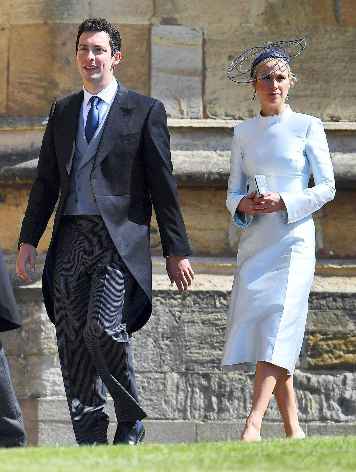Mandatory Credit: Photo by James Gourley/Shutterstock (9685475fe) Michael Hess and Misha Nonoo The wedding of Prince Harry and Meghan Markle, Pre-Ceremony, Windsor, Berkshire, UK - 19 May 2018