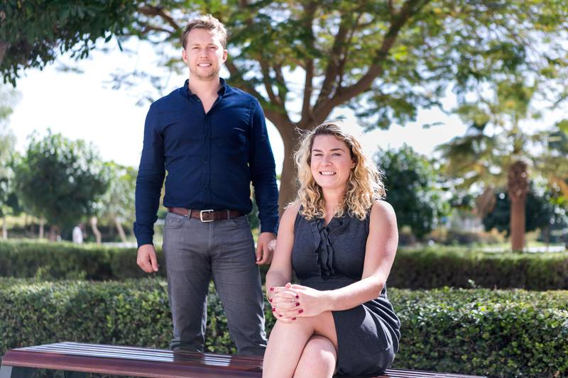DUBAI, UNITED ARAB EMIRATES, 31 JAN 2017. Ian Dillon and Katharine Budd, founders of NOW Money, a startup based in the UAE, that provides a safe, immediate and cost effective remittance solution, delivered via a smartphone app, to people who are excluded from the traditional banking system. Photo: Reem Mohammed / The National (Reporter: Gillian Duncan / Section: BZ LIFE) ID 49883 *** Local Caption ***  RM_20170131_BZLIFE_TRADE_007.JPG