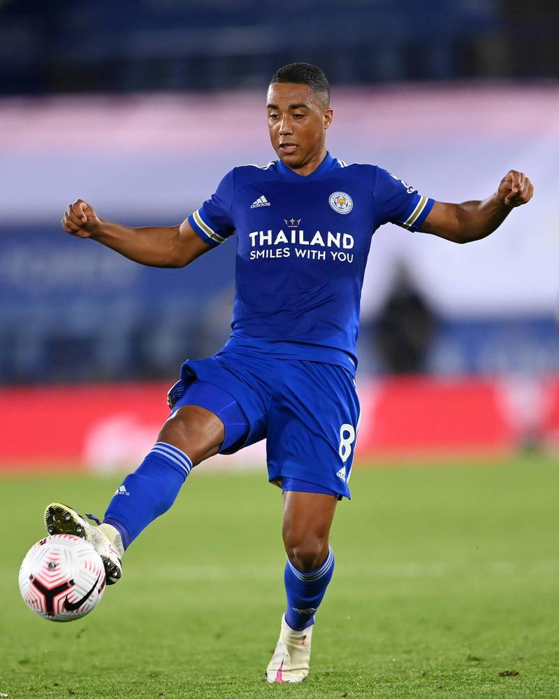 LEICESTER, ENGLAND - SEPTEMBER 20: Youri Tielemans of Leicester runs with the ball during the Premier League match between Leicester City and Burnley at The King Power Stadium on September 20, 2020 in Leicester, England. (Photo by Laurence Griffiths/Getty Images)