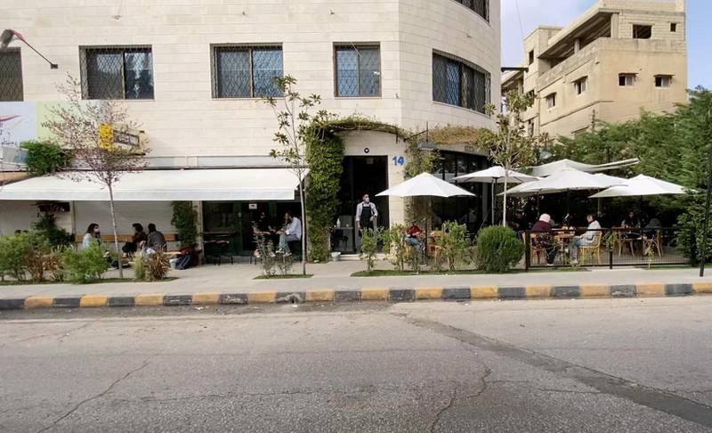 Coffee shops remain busy though the day in Amman, Jordan. Amy McConaghy / The National