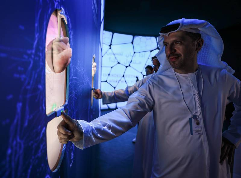 Dubai, U.A.E., February 10, 2019.  World Government Summit,  Museum of the Future.  Artificial organs of the future.Victor Besa/The NationalSection:  NAReporter: