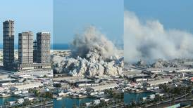 Gone in 10 seconds: Mina Plaza towers torn down in Abu Dhabi - in pictures