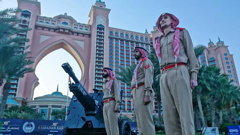 An image that illustrates this article Dubai Police set up Eid Al Fitr cannon to mark end of Ramadan
