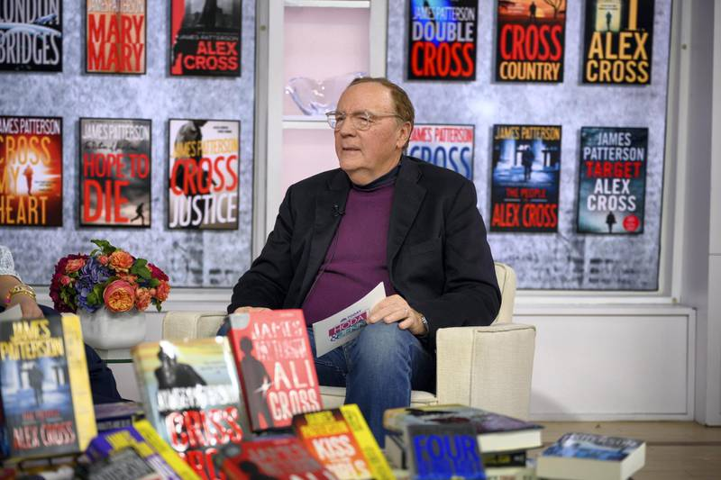 TODAY -- Pictured: James Patterson on Friday, December 6, 2019 -- (Photo by: Nathan Congleton/NBC/NBCU Photo Bank via Getty Images)
