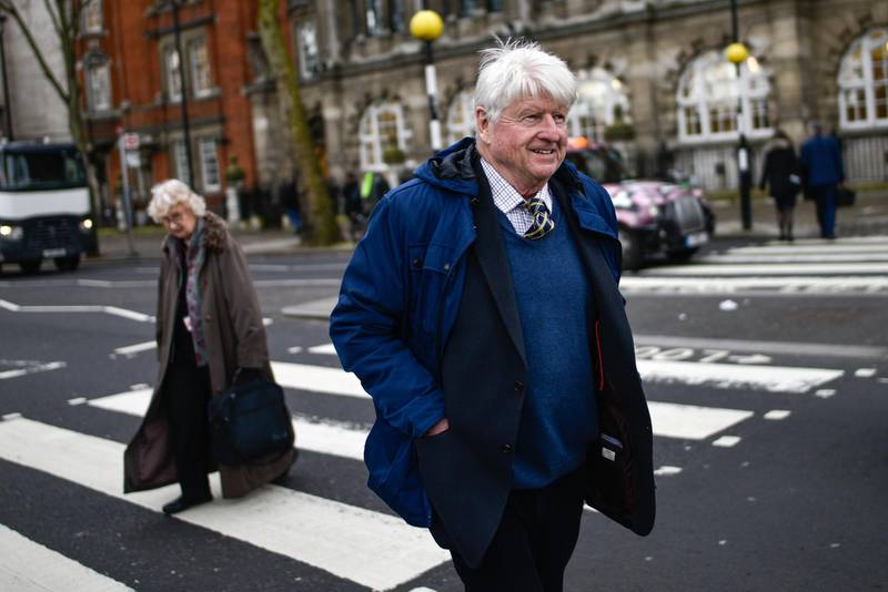 LONDON, ENGLAND - MARCH 04: Stanley Johnson, father of British Prime Minister Boris Johnson, is seen on March 04, 2020 in London, England. (Photo by Peter Summers/Getty Images)