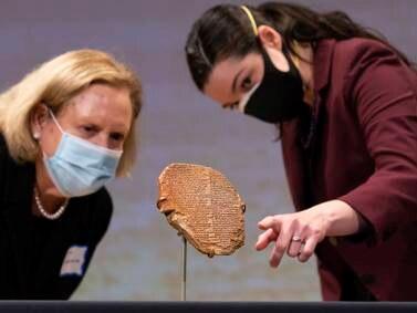 Repatriation ceremony of Iraqi artefacts - in pictures