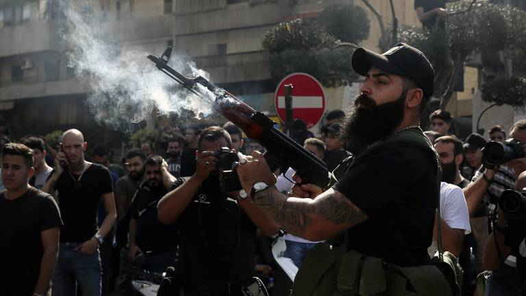 An image that illustrates this article Beirut violence harks back to Lebanon's civil war demons, analysts say