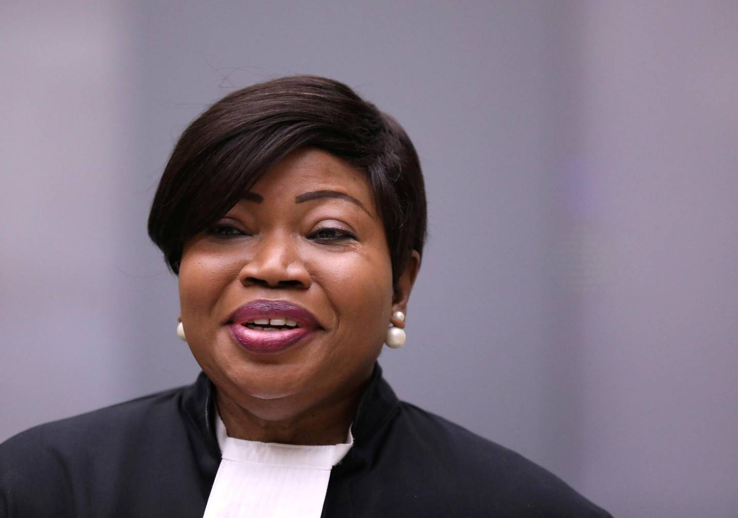 FILE PHOTO: Public Prosecutor Fatou Bensouda attends a trial at the ICC (International Criminal Court) in The Hague, the Netherlands July 8,2019. REUTERS/Eva Plevier/Pool/File Photo