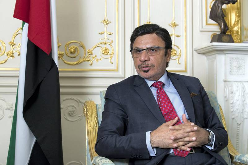LONDON 9/8/17 UAE Ambassador Sulaiman Al Mazroui at his office in London. Stephen Lock for the National   FOR NATIONAL