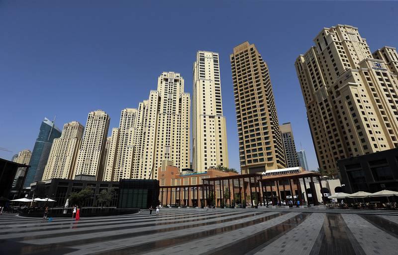 Dubai ,United Arab Emirates- July,20, 2015: Jumeirah Beach Residences in Dubai Marina area in Dubai . ( Satish Kumar / The National ) For Business / Stock *** Local Caption ***  SK-JBR-20072015-04.jpg