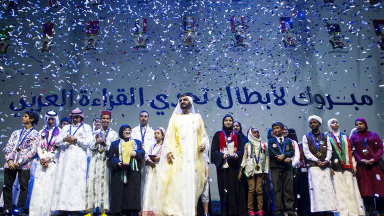 An image that illustrates this article Sheikh Mohammed bin Rashid to award Dh11m of prizes to Arab Reading Challenge winners