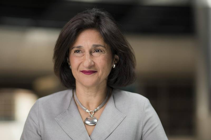 Minouche Shafik, director of the London School of Economics (LSE), poses for a photograph following a Bloomberg Television interview in London, U.K., on Monday, Sept. 2, 2019. Shafik, a former deputy governor at the Bank of England, is the U.K. government's favored candidate to take over the top job at the institution,accordingto the BBC. Photographer: Jason Alden/Bloomberg