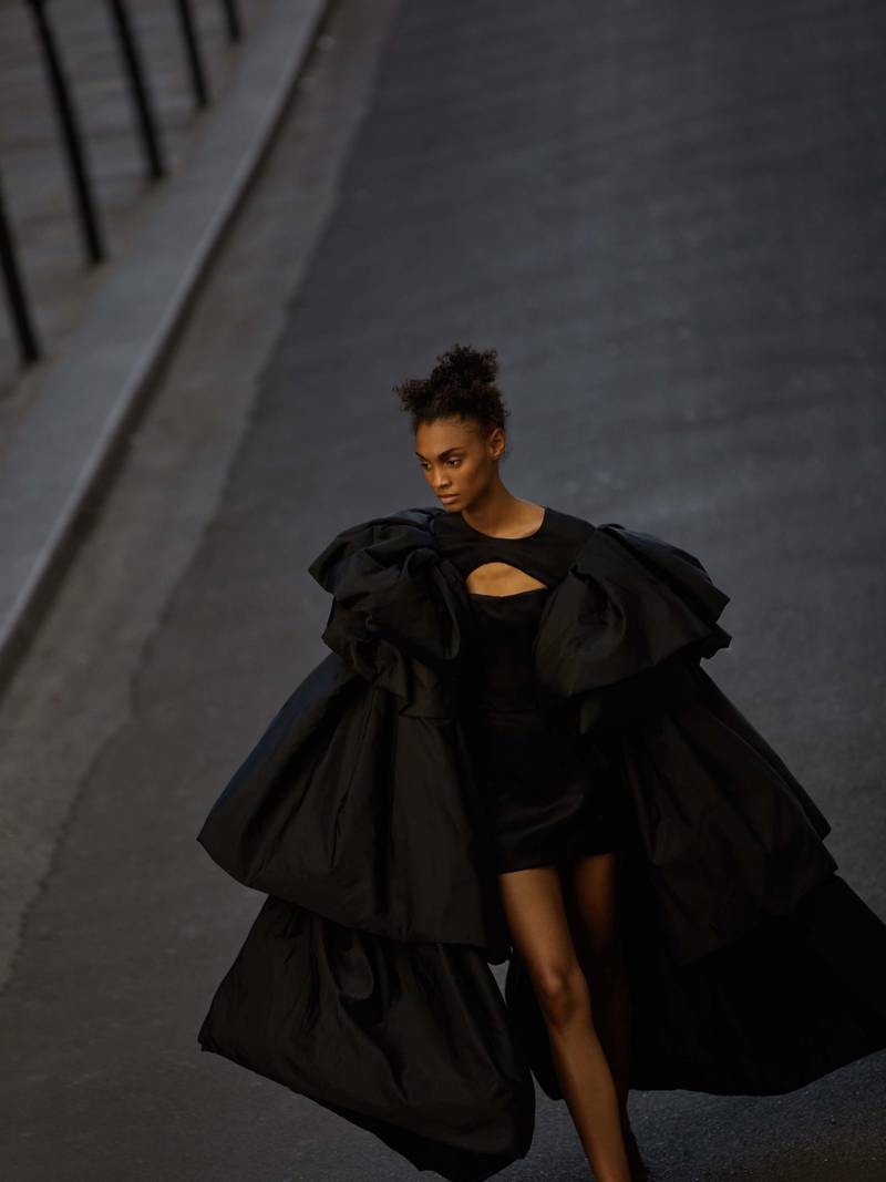 through the lens: Photography   Chantelle Dosser fashion director   Sarah MaiseyMilano dress in black Taroni silk taffeta with a horsehair understructure, August Getty Haute Couture