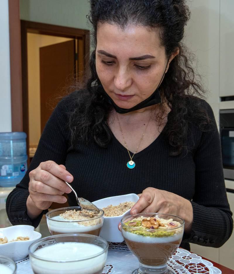 Abu Dhabi, United Arab Emirates, April 14, 2021.  Ramadan Recipes by Nejat Hadriche.  Victor Besa/The NationalSection:  lfReporter:  Hanan Sayed Worrell