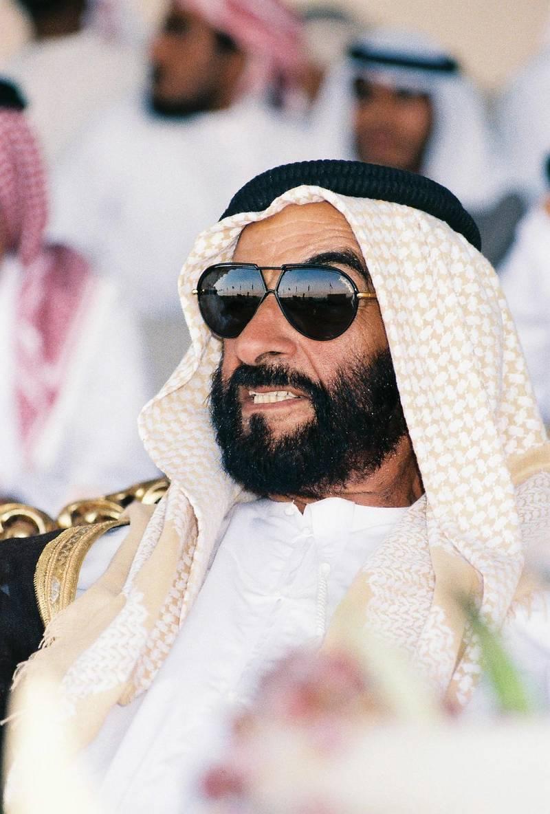 The Late Sheikh Zayed bin Sultan's Portrait. (Courtesy Al Ittihad) Portrait of the late Sheikh Zayed bin Sultan Al Nahyan. (Courtesy Al Ittihad)