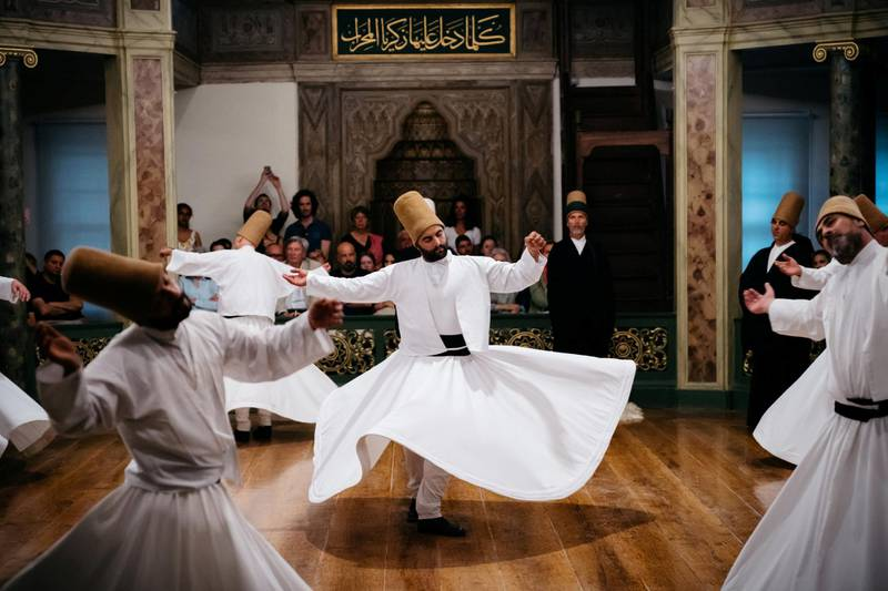 Whirling Dervishes of Beyoğlu, Istanbul. Photo: Christopher Wilton-Steer and The Aga Khan Development Network
