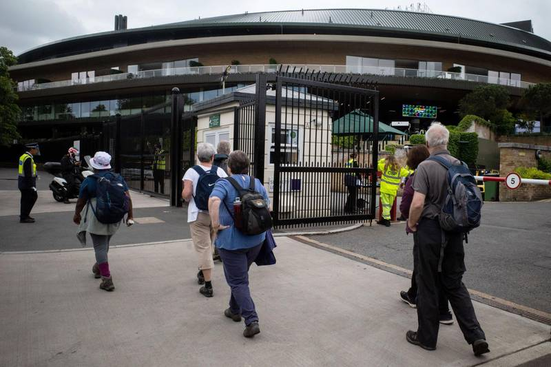 In the run up to the Wimbledon tennis championship reporter Tim Stickings and I visited and interviewed locals to guage the feeling ahead of the competition. As tickets went on sale none of the usual crowds of fans could be seen at the Wimbledon tennis club.