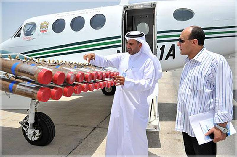 Provided photo of cloud seeding operations in the UAE   Courtesy National Centre for Meteorology and Seismology *** Local Caption ***  cloud-seeding.jpg