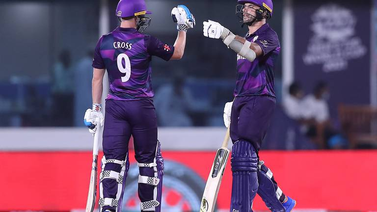 An image that illustrates this article T20 World Cup: Kyle Coetzer seals Scotland's Super 12 spot and ends Oman's campaign