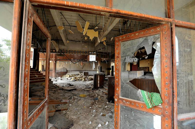 Images of the interior of the orginal Hard Rock Cafe in Dubai, United Arab Emirates under demolition on Monday, Jan. 28, 2013. Photo: Charles Crowell for The National