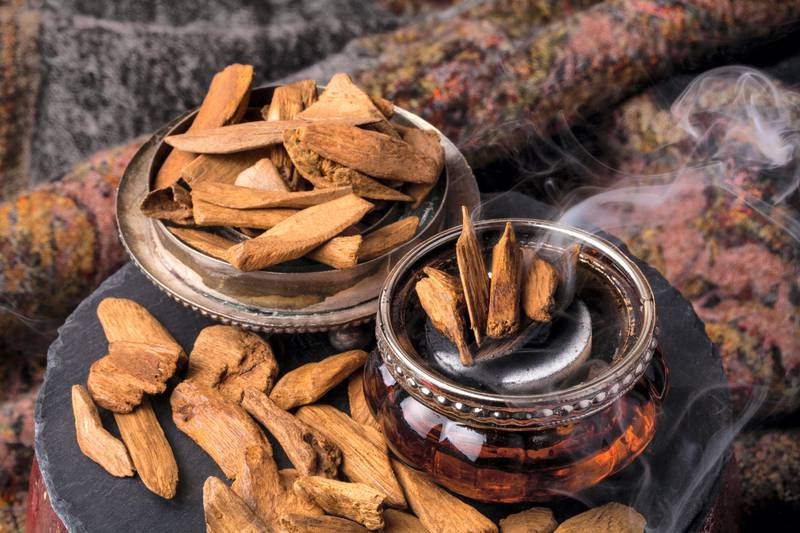 HTGA43 Agarwood, also called aloeswood incense chips. 9Jurate Buiviene / Alamy Stock Photo)