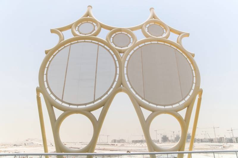 DUBAI, UNITED ARAB EMIRATES - JULY 4, 2018.   A model of the structures that will be on Al Wasl Plaza dome at EXPO2020 site.  (Photo by Reem Mohammed/The National)  Reporter: Shireena Al Nuwais Section: NA