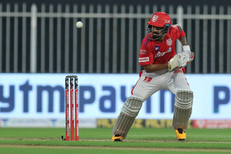 KL Rahul captain of Kings XI Punjab bats during match 9 season 13 of the Dream 11 Indian Premier League (IPL) between Rajasthan Royals and Kings XI Punjab held at the Sharjah Cricket Stadium, Sharjah in the United Arab Emirates on the 27th September 2020. Photo by: Deepak Malik  / Sportzpics for BCCI