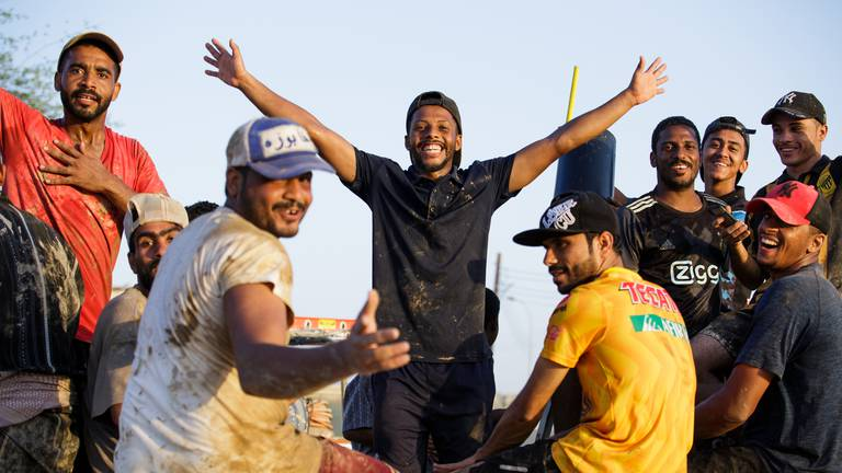 An image that illustrates this article Omanis and residents clean up and rebuild in aftermath of Cyclone Shaheen - in pictures